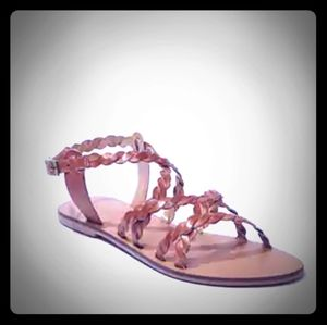 Twisted Leather Sandals